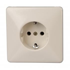 Kopp Schutzkontakt- Steckdose creme-weiß