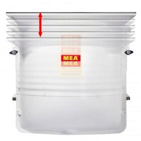 MEA Lichtschacht MEAMAX begehbar - b=125 cm - t=40 cm - h=100-125 cm