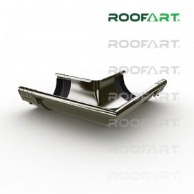Roofart Rinnenwinkel außen+Verbinder mit Steckboden+Dichtlippe, Ø 125 mm