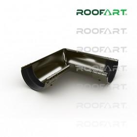 Roofart Rinnenwinkel innen 90° mit Verbinder, Ø 125 mm, versch. Farben