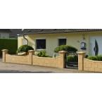 WESERWABEN Premium-Line Landhaus Pfeilerabdeckung - Gestaltungsbeispiel
