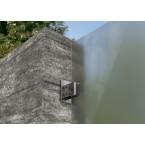 WESERWABEN Vario-Line Halterung für Sichtschutz-Glaselement aus ESG-Glas - Gestaltungsbeispiel