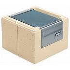 WESERWABEN Premium-Line Residenz Pfeilerelement mit Briefkasten Entnahme hinten