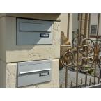 WESERWABEN Premium-Line Residenz Pfeilerelement mit Briefkasten Entnahme hinten - Gestaltungsbeispiel