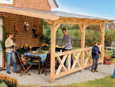 Terrassendach aus Holz