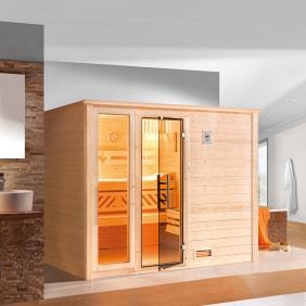Sauna Massivholzbauweise