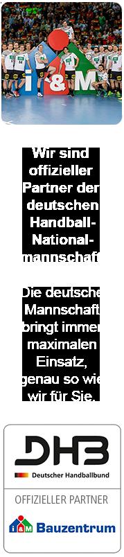 Die deutsche Männer-Handballnationalmannschaft ist von KÖMPF Onlineshops überzeugt