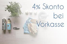 4 % Skonto bei Vorkasse
