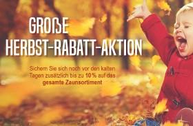 Große Herbst-Rabatt-Aktion