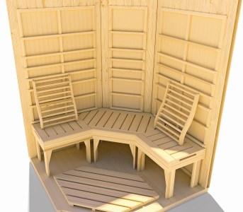 weka infrarot w rmekabine mila gr 2 inkl linienstrahler mein. Black Bedroom Furniture Sets. Home Design Ideas