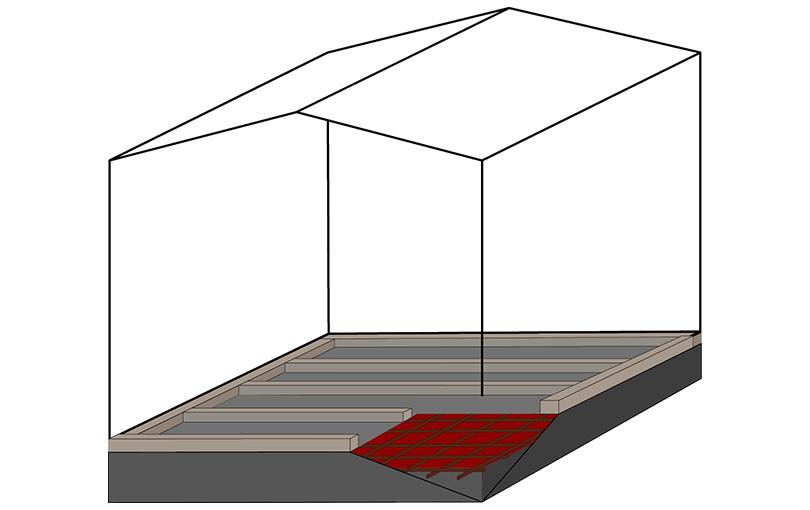 anleitung zur erstellung eines betonfundaments f r ihr. Black Bedroom Furniture Sets. Home Design Ideas