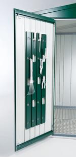 Ordnungssystem an der Innenseite der Türflügel inkl. 6 Aufhängehaken