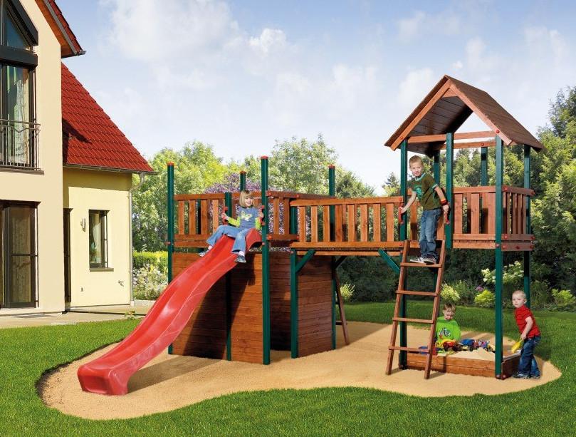 trampolin schaukel spielhaus und co kinderspielger te im garten mein. Black Bedroom Furniture Sets. Home Design Ideas