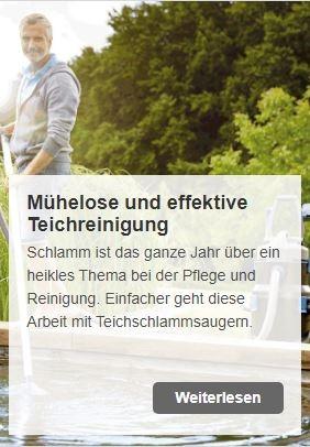 Mühelose und effektive Teichreinigung: Mit Oase Teichschlammsaugern | www.oase.teichbau.de