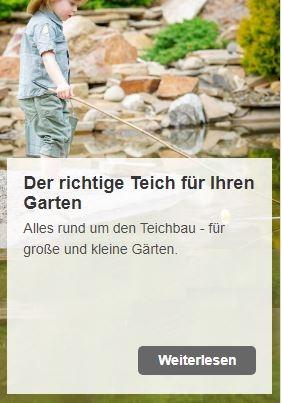Der richtige Teich für kleine und für große Gärten | www.oase.teichbau.de