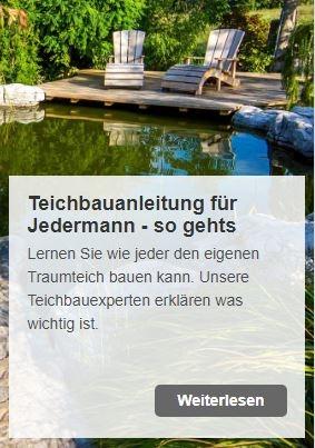 Teich selbst bauen - Teichbauanleitung für Jedermann | www.oase.teichbau.de