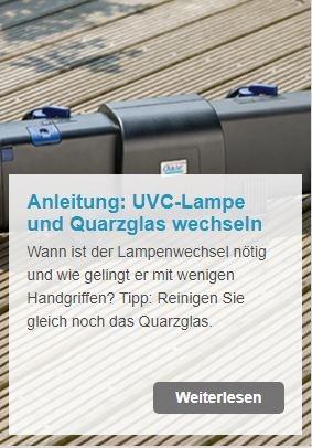 Anleitung: UVC-Vorklärgerät Lampe und Quarzglas wechseln | www.oase.teichbau.de
