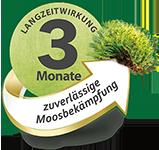 Drei Monate Langzeitwirkung für zuverlässige Moosbekämpfung