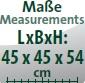 Maße (L/B/H): 45x45x54 cm