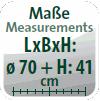 Maße (Ø/H): 70 x 41 cm