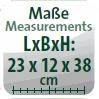 Maße (L/B/H): 23x12x38 cm