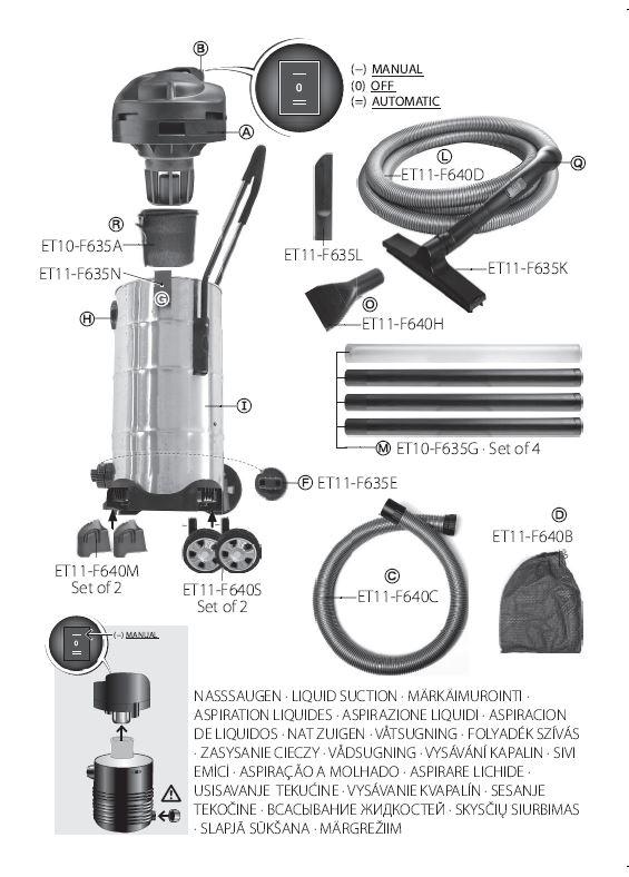 Heissner-Ersatzteile Teichschlammsauger F640S-00