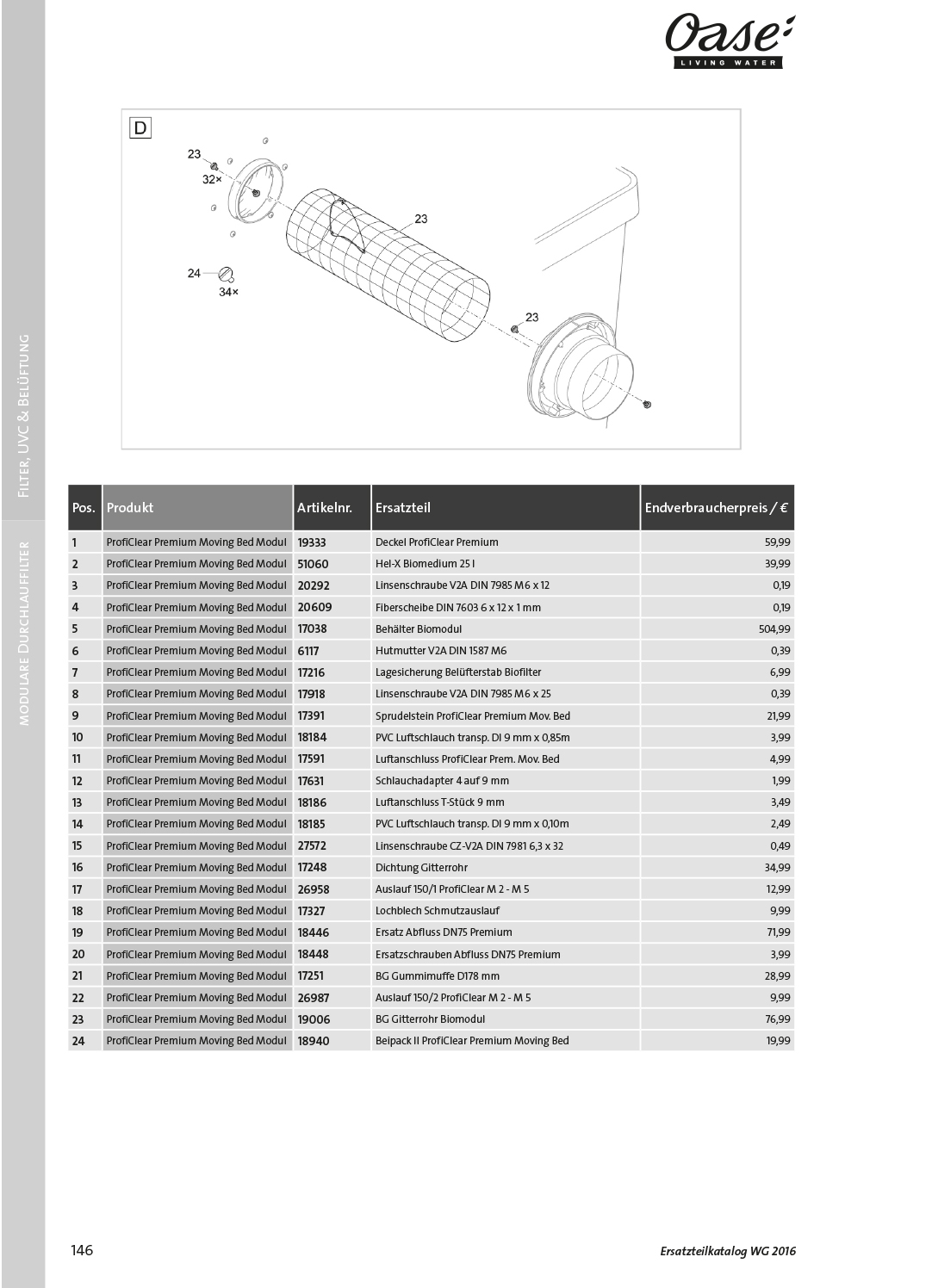 Oase ProfiClear Premium TF-L Gravitation EGC | oase-teichbau.de