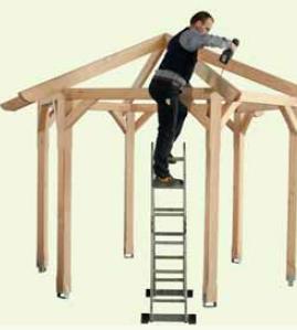 skan holz design pavillon laube toulouse skanholz. Black Bedroom Furniture Sets. Home Design Ideas