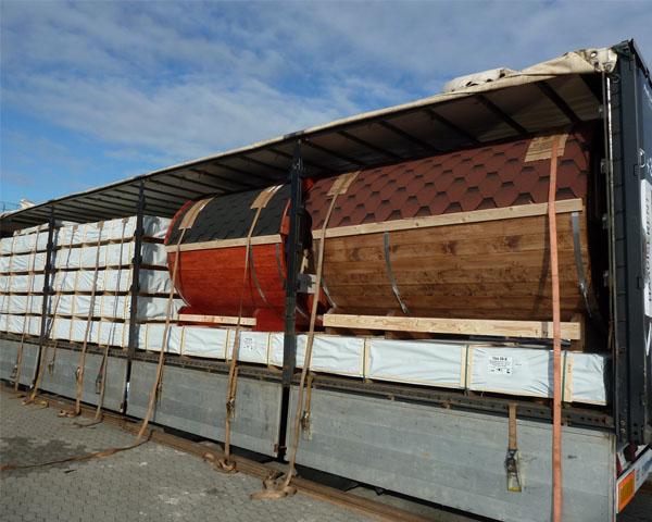 Wolff Finnhaus Saunafass 220 Verladung
